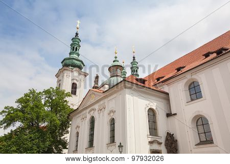 Strahov Monastery In Prague In The Czech Republic
