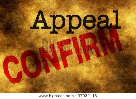 Appeal Confirm
