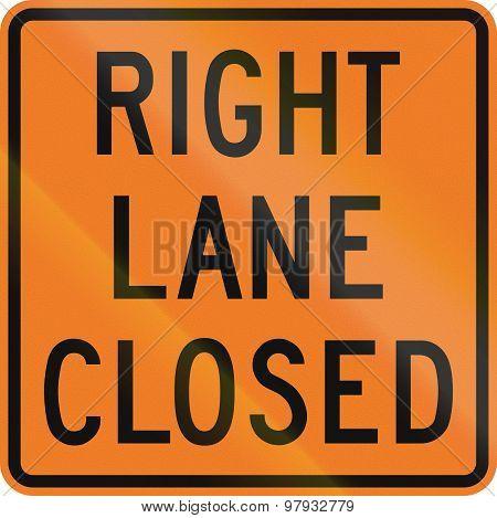 Right Lane Closed In Canada