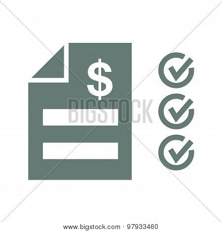 Tax Statement Icon - Concept for business and finance. Concepts for taxes, finance, bookkeeping, acc