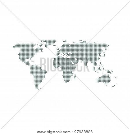 World Map In Dots