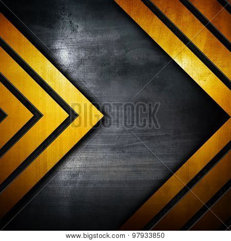 metal plate with arrow pattern
