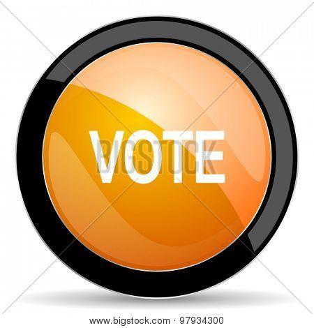 vote orange icon