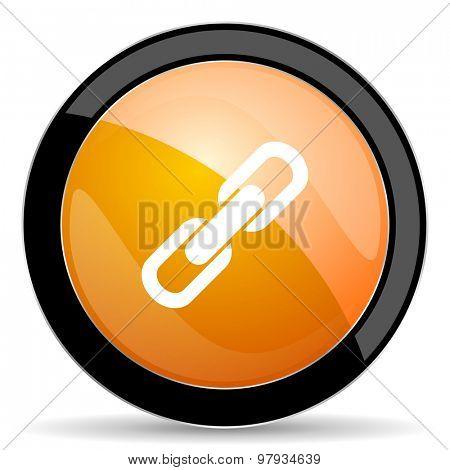 link orange icon chain sign