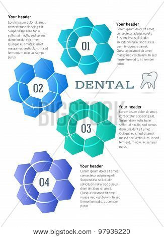 Brochure Template Concept Techno Flower Dental