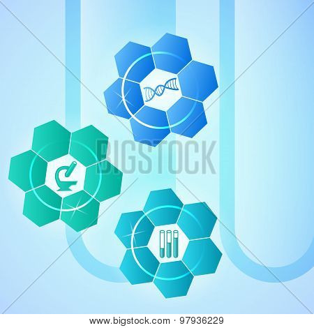 Brochure Template Concept Techno Flower Medical Laboratory
