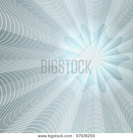 Effect Of Light Waves Gray Gradient Background