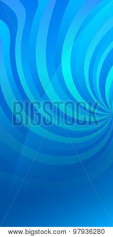 Flyer Template Vertical Background Blue Spiral Twist