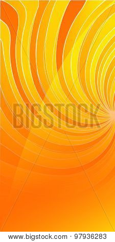 Flyer Template Vertical Background Yellow Spiral Twist