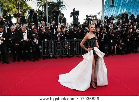 Natasha Poly attends the 'Carol' premiere during the 68th annual Cannes Film Festival on May 17, 2015 in Cannes, France.