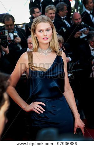 Toni Garrn attends the 'Carol' premiere during the 68th annual Cannes Film Festival on May 17, 2015 in Cannes, France.