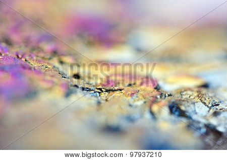 Thin Layer Of The Titan On A Quartz Surface Macro