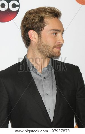 , LOS ANGELES - AUG 4:  Ed Westwick at the ABC TCA Summer Press Tour 2015 Party at the Beverly Hilton Hotel on August 4, 2015 in Beverly Hills, CA
