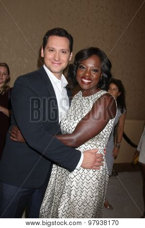 LOS ANGELES - AUG 4:  Matt McGorry, Viola Davis at the ABC TCA Summer Press Tour 2015 Party at the Beverly Hilton Hotel on August 4, 2015 in Beverly Hills, CA