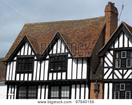 Medieval Tudor timber framed houses