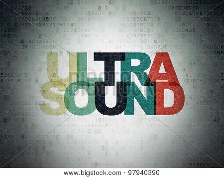 Healthcare concept: Ultrasound on Digital Paper background