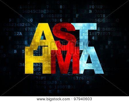 Medicine concept: Asthma on Digital background