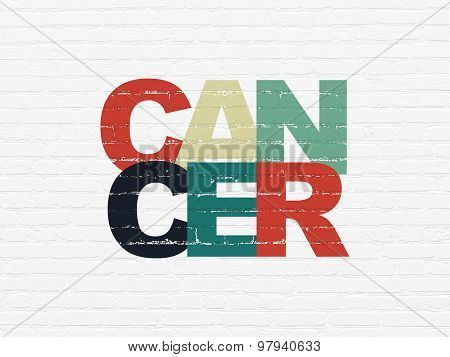 Medicine concept: Cancer on wall background