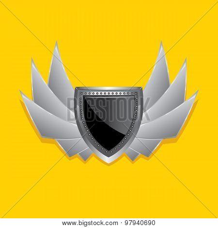 Vector metallic automotive, motorcycle badge