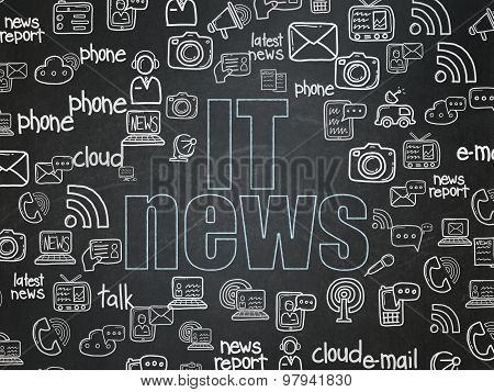 News concept: IT News on School Board background
