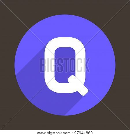 Letter Q Logo Flat Icon Style. Vector