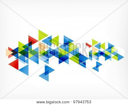 Triangle pattern composition, abstract background with copyspace. Vector illustration
