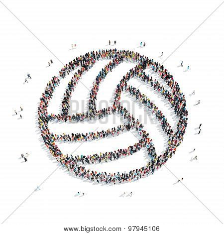 people  shape  volleyball  sports