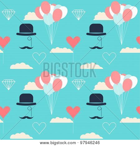 Wedding Seamless Pattern Background