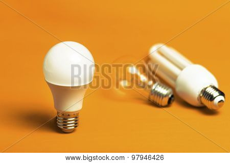 Led, Tungsten And Fluorescent Bulbs