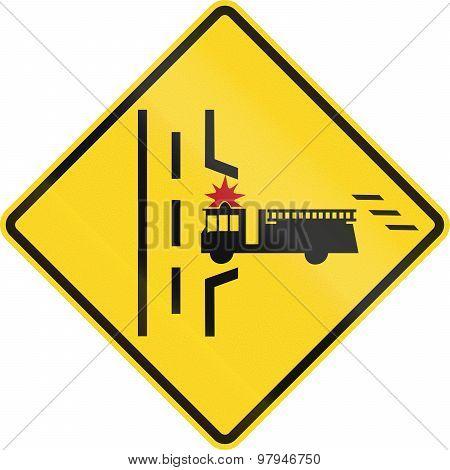 Fire Truck Entrance In Canada