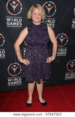 LOS ANGELES - JUL 31:  Lauren Potter at the Special Olympics Inaugural Dance Challenge at the Wallis Annenberg Center For The Performing Arts on July 31, 2015 in Beverly Hills, CA