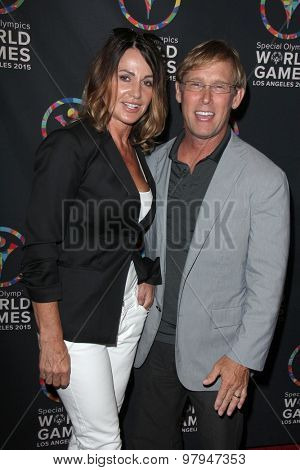 LOS ANGELES - JUL 31:  Nadia Comaneci, Bart Conner at the Special Olympics Inaugural Dance Challenge at the Wallis Annenberg Center For The Performing Arts on July 31, 2015 in Beverly Hills, CA