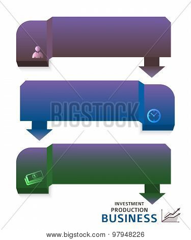 Investment Finance Brochure Page Set Of Horizontal Banners
