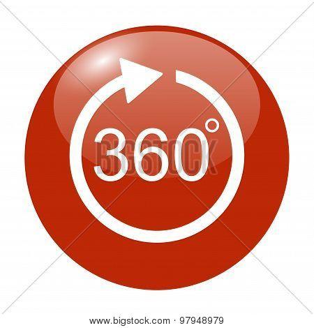 360 degree Arrow Vector Icon