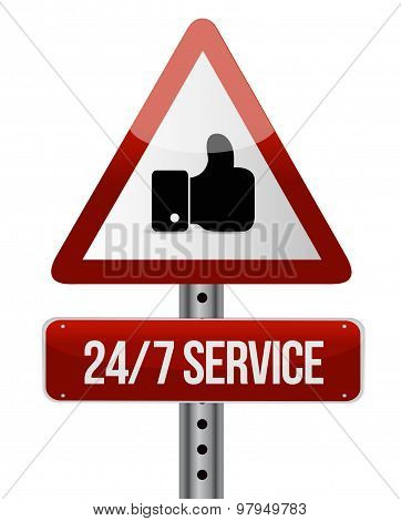 24-7 Service Road Sign Concept