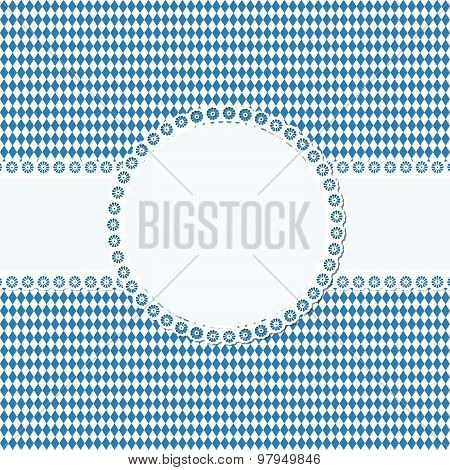 Banner And Patch On Oktoberfest Background