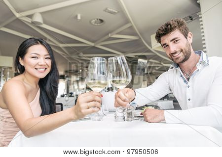 Couple In Luxury Restaurant