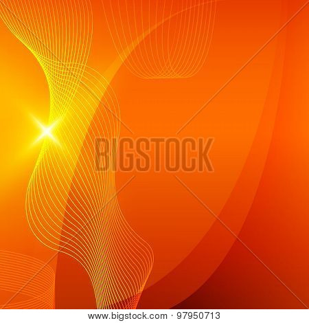 Orange Abstract Background Bending Line