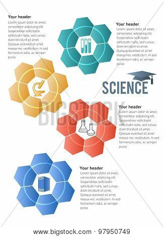 Techno Flower Brochure Template Concept Of Science