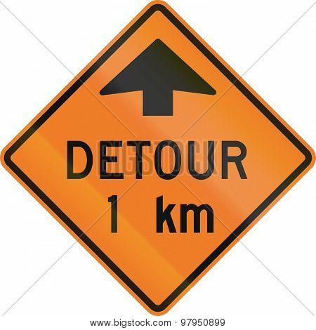 Detour 1 Km In Canada