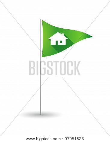 Golf Flag With A House