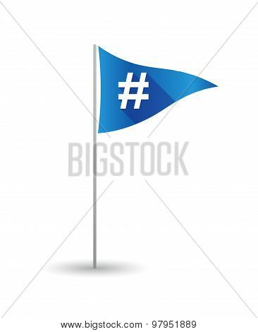 Golf Flag With A Hash Tag