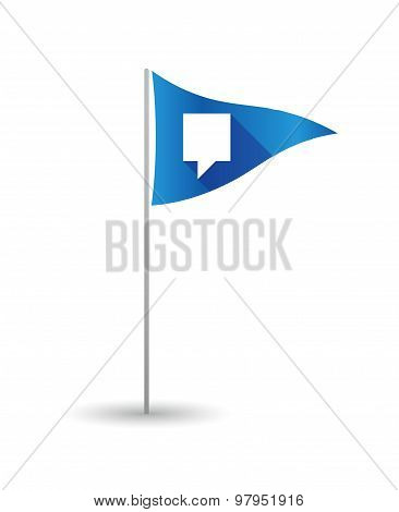 Golf Flag With A Tooltip