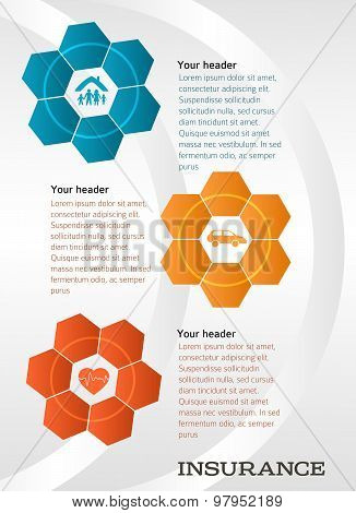 Techno Flower Concept Insurance Brochure Template