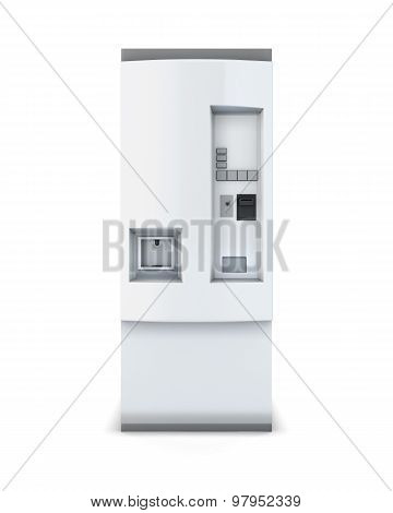 White Soda Vending Machine