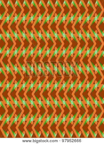 Orange-green Twisted Long Rhombus Background
