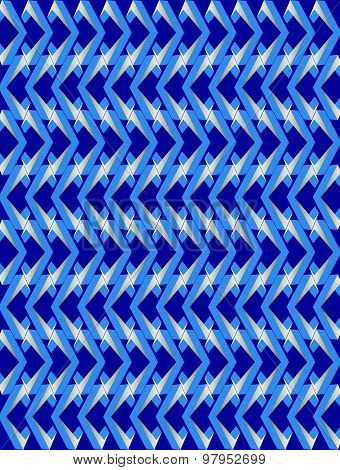 Blue Twisted Long Rhombus Background