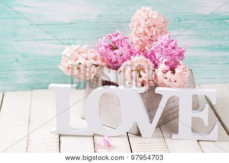 Fresh Flowers And Word Love