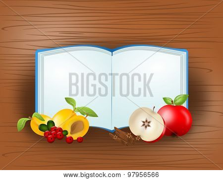 Cook Book With Fruit