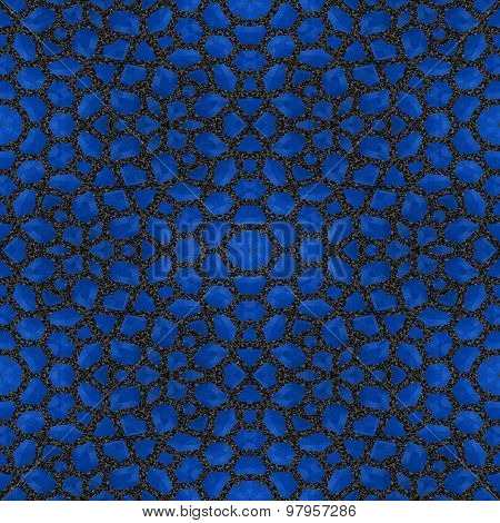 Abstract Blue Garnet Stone Tile Or Background Made Seamless